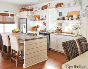 Еко стиль в інтер`єрі білою кухні (3 фото) фото