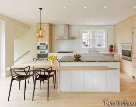 Еко стиль в сучасній бежевій кухні (2 фото) фото