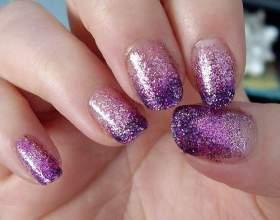 Як наносити блискітки на нігті? фото
