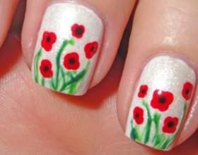 Як намалювати на нігтях квітка? фото