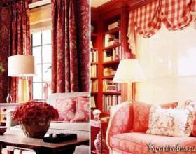 Як шпалери під червоні штори підібрати в стиль кімнати? (4 фото) фото