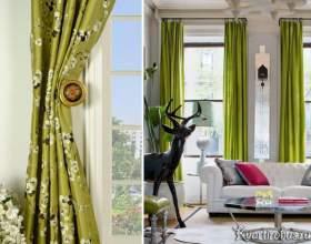 Як підібрати шпалери під зелені штори (4 фото) фото