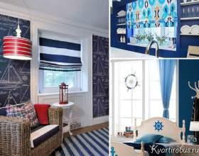 Як підібрати штори під сині шпалери (4 фото) фото