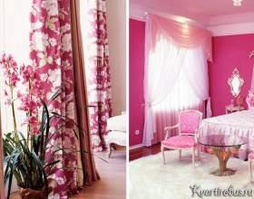 Як підібрати штори в інтер`єр з рожевими шпалерами (4 фото) фото