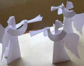 Як зробити ангела з паперу? фото