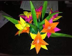 Як зробити квіти орігамі? фото