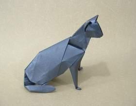 Як зробити з паперу кішку? фото