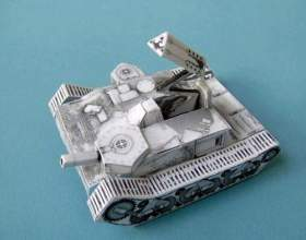 Як зробити танк з паперу? фото