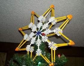 Як зробити зірку на ялинку? фото