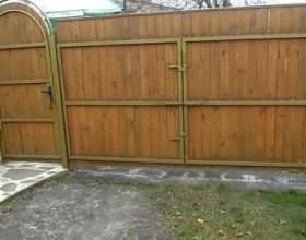 Які вибрати ворота на дачу? фото