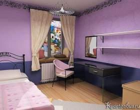 Якого кольору штори найкраще будуть поєднуватися з бузковими шпалерами (4 фото) фото