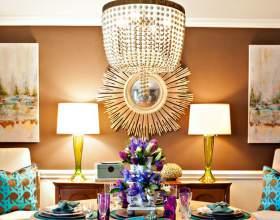 Коричневий колір в інтер`єрі вітальні в англійському стилі (3 фото) фото