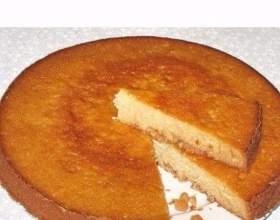 Пишний низькокалорійний пиріг на кефірі фото