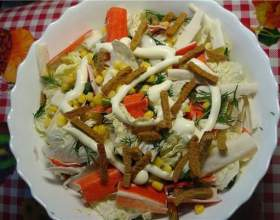Рецепти салату з сухариками фото