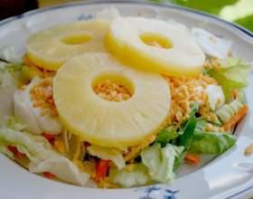 Рецепти салатів з ананасами фото