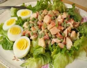 Рецепти салатів з мовою фото
