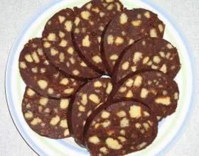 Рецепти шоколадної ковбаси фото