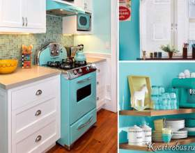 Стиль еклектика в інтер`єрі блакитний кухні (2 фото) фото