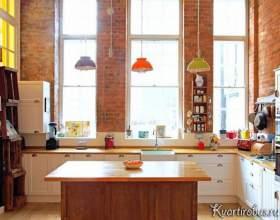 Стиль лофт в інтер`єрі теракотової кухні (3 фото) фото