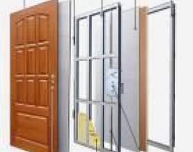 Вхідні подвійні металеві двері фото