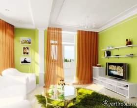 Зелені шпалери: які штори підкреслять їх? (4 фото) фото